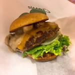 フレッシュネスバーガー - マッシュルームチーズバーガー+低糖質バンズ780円