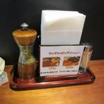 うなぎと麦酒のまんまる - ミルに入った山椒