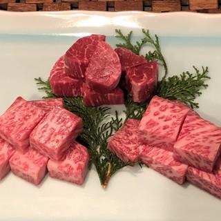 口の中で溶けてしまう最高級神戸牛を使用