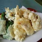 食堂SS - 天盛り定食の天ぷらです!!