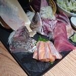 魚金 - 刺し盛り 660円!