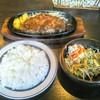 レストラン ガリエラ - 料理写真:Cランチ ステーキ 牛サーロイン!ライス&サラダ、あとスープも付いてくる!