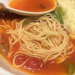 太陽のトマト麺withチーズ - 細麺アップ