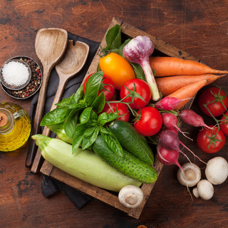 有機野菜を中心に。