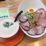 118805384 - 2019年10月時点ドリームつけ麺(150g)¥1.000                        150gを選ぶとメンマかチャーシューか玉子がサービス