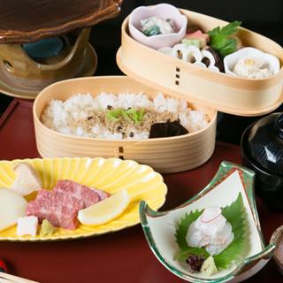 京都産の食材や近海で獲れた鮮魚が織りなす、こだわりの京料理