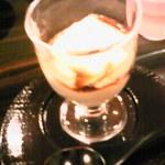 すし崇 - デザートの豆乳パンナコッタ