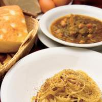 トラットリア ダ ナオシ - 奈良大和高原有精卵と自家製パンチェッタを使ったスパゲッティ カルボナーラ  お子ちゃまに人気です
