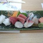 和食処 こやま - 刺し盛 1500円で作ってもらいました