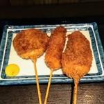 鮪市場 - 串揚げの豚ロース・鶏ささみ・レンコン