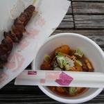 田中屋 - 料理写真:牛すじ煮込み+牛串焼き(塩)