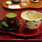 118837743 - 抹茶ケーキと辻さんの抹茶
