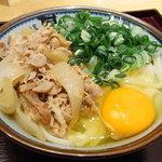 二代目 甚八 - 肉釜玉うどん(720円)