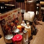 麺処田ぶし - 料理写真:テーブルの卓上