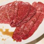 焼肉 粋 - 赤身五種 ハラミ、マキ、トモサンカクなど