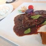 YAKINIKU BISTRO 石鎚 - 牛サガリステーキ赤ワインソース100g1,300円