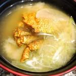 函館 函太郎 - 栗がに味噌汁