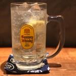 酒と炭焼 おかげさん - 角ハイボール、レモンが良い感じ!