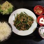 118861550 - レバニラ定食
