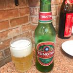 桂園餃子房 - 飲み放題の青島ビール