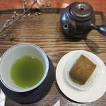 11887378 - 抹茶ロールケーキセット 750円