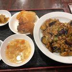 中国料理 金春新館 - 麻婆茄子定食