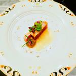セント レジス ホテル - 鮪のマリネ 茄子とオリーブ ヘーゼルナッツオイル