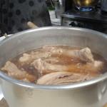 きよはら焼肉 - チャーシューが入った鍋