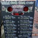 カフェ emo. エスプレッソ - 頭上の看板のアップです。