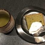 千鳥寿し - 抹茶のシフォンケーキ