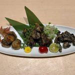 kuzushikappoutokoshitsuiori - 地鶏の炭火焼き厳選3種 ¥1,490