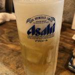 江古田ホルモン - 生ビール グラス冷え冷え
