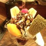 仏蘭西茶館 - チョコレートパフェ 角度を変えて