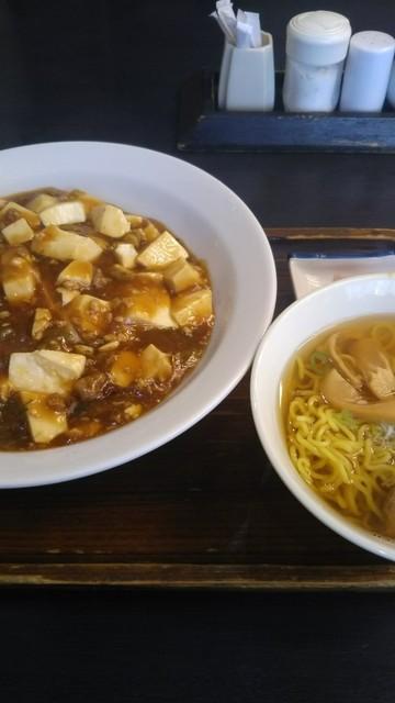 葵飯店 - 麻婆丼セット