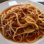 パッパーレ - ●パスタランチ 2,000円 ポロネーズのスパゲティ 大盛+200円