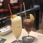 喫茶室ルノアール - ドリンク写真:レモンスカッシュ、アイスティー