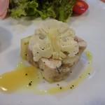 118929030 - ワンプレートランチ:前菜(ウサギとカリフラワーのゼリー寄せ 黒胡椒と栗の蜂蜜がけ)