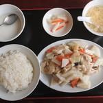 118931135 - 2019年10月 日替ランチ B1:鶏肉と山芋炒め 750円