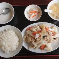 大連食府-2019年10月 日替ランチ B1:鶏肉と山芋炒め 750円
