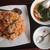大連食府 - 料理写真:2019年10月 日替ランチ C:キムチチャーハン+ワンタンスープ 800円