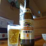 蕎麦屋 慶徳 - ビールは一番搾り