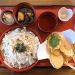 甲州ほうとう 百間 - おざら天ぷらセット