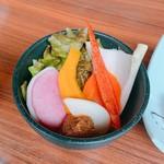 118950419 - 秋野菜のディップ 力士味噌添え