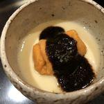 118950478 - 雲丹の茶碗蒸し海苔ソース