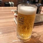 らーめん空 - 「ビール中ジョッキ[北海道限定クラッシック]」(680円)