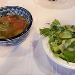 メヒコリンド - スープとサラダ