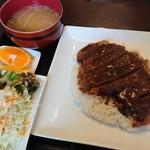 ラッキー食堂 - 牛かつめし(並)