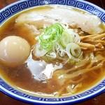 中華そば 琴の - 太麺中華そば+味付玉子(850円)