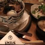 六花亭 - 角煮丼セット@1,200円