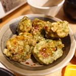 ホルモン鍋 暖 - 納豆の磯辺揚げ